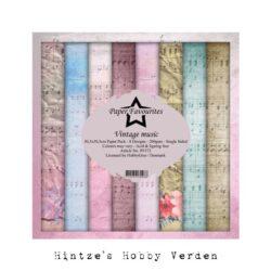 Paper Favourites – Paperpad – 30,5×30,5 cm – Vintage music