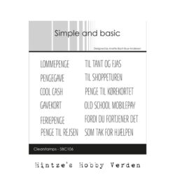 Simple and Basic stempel – Lommepenge