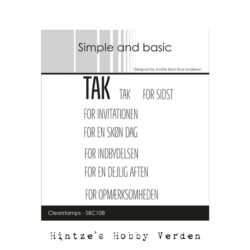 Simple and Basic stempel – Tak