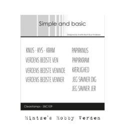 Simple and Basic stempel – Knus Kys Kram