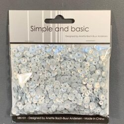 Simple and Basic Sequins – Silver