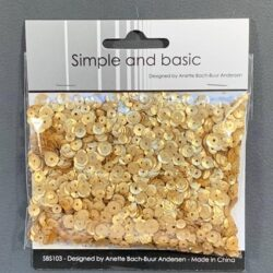 Simple and Basic Sequins – Gold