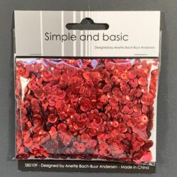 Simple and Basic Sequins – Red