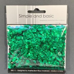 Simple and Basic Sequins – Green