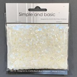 Simple and Basic Sequins – Transparent Ivory
