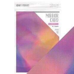 Craft Perfect – Iridescent spejlkarton – Petal Pink A4