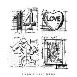 Tim Holtz Stempel – Valentine Blueprint