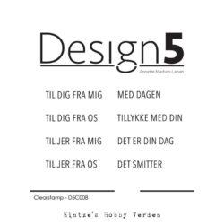 Design5 Stempel – Danske Tekster