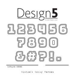 Design5 Die – Numbers w/Shadow