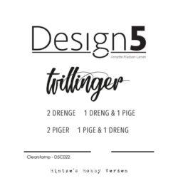 Design5 Stempel – Tvillinger