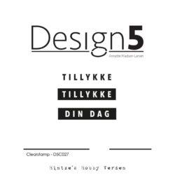 Design5 Stempel – Tillykke og Din dag