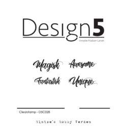 Design5 Stempel – Små tekster