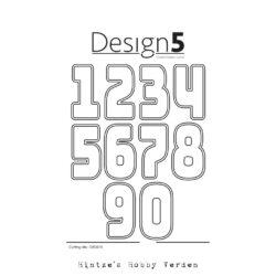 Design5 Die – XL Numbers