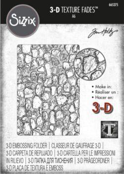 Sizzix/Tim Holtz 3D Embossingfolder – Cobblestone