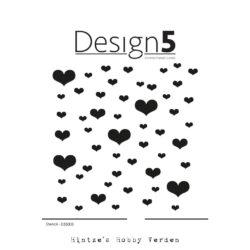 Design5 Stencil – Hearts