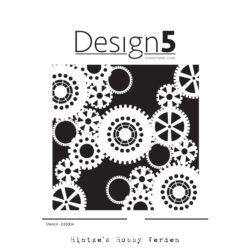 Design5 Stencil – Gears