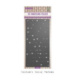 NS 3D Embossingfolder – Slimline – Stars & Dots