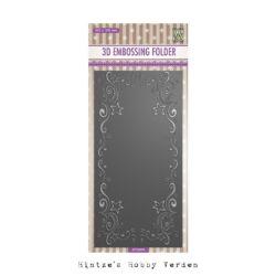 NS 3D Embossingfolder – Slimline – Curls-stars Frame