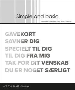 Simple And Basic Hot Foil Plate – Danske tekster