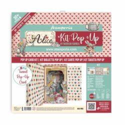Stamperia Pop Up Kit 12×12 Inch – Alice Wonderland Tunnel
