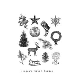Tim Holtz Cling Stamp – Holiday Things