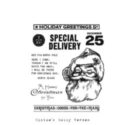 Tim Holtz Cling Stamp – Jolly Santa